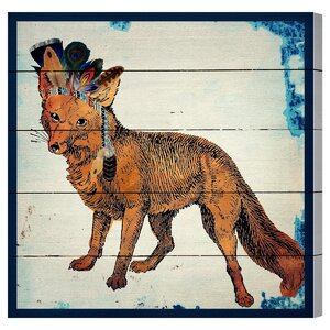 Wild Fox Painting Print Plaque by Brayden Studio