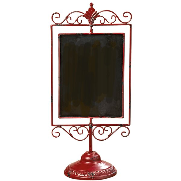 Iron Lacquered Tabletop Chalkboard by August Grove