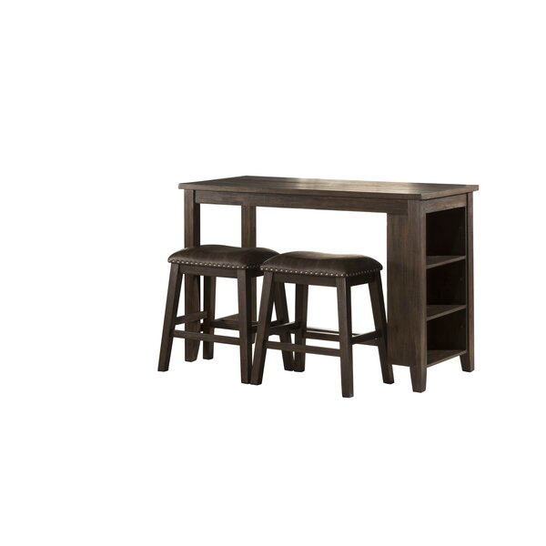 Balnamore Spencer 3 Piece Counter Height Dining Set by Charlton Home Charlton Home