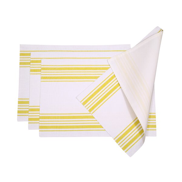 Gail Stripes Cotton Placemat (Set of 4) by August Grove