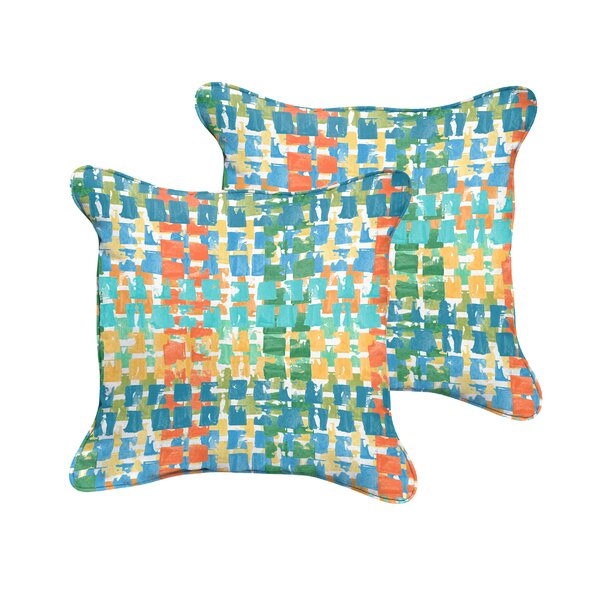 Clare Indoor/Outdoor Throw Pillow (Set of 2) by Bungalow Rose
