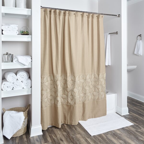 Lockbourne Cotton Shower Curtain by Darby Home Co