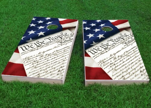 The People Cornhole Game (Set of 2) by Custom Cornhole Boards