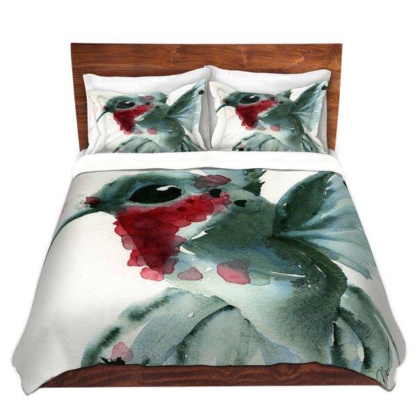 Maximus Dawn Derman Christmas Hummingbirds II Microfiber Duvet Covers