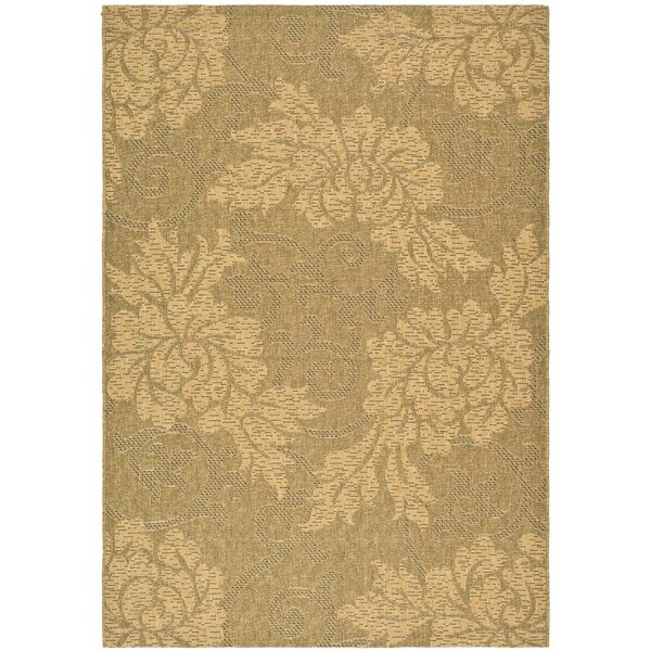 Wysocki Gold/Natural Indoor/Outdoor Area Rug by August Grove