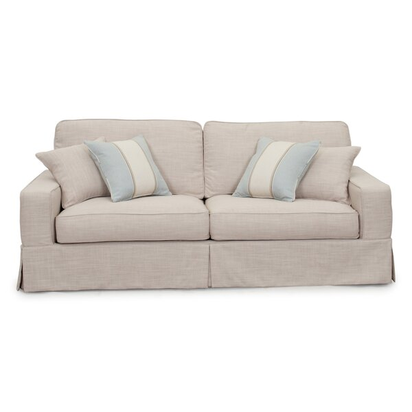 Glenhill Box Cushion Sofa Slipcover by Rosecliff Heights