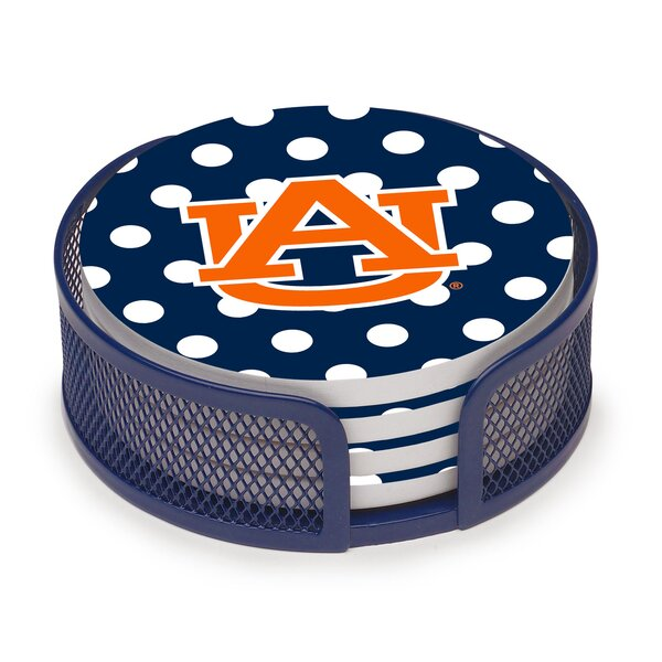 5 Piece Auburn University Dots Collegiate Coaster Gift Set by Thirstystone