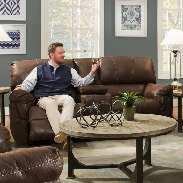 Shop Special Prices In Simmons Upholstery Leeann Motion Console Reclining Sofa by Loon Peak by Loon Peak
