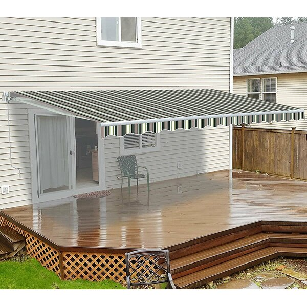 10 Ft W X 8 Ft D Retractable Patio Awning By Aleko.