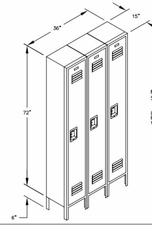 @ 1 Tier 3 Wide School Locker by Salsbury Industries| #$0.00!
