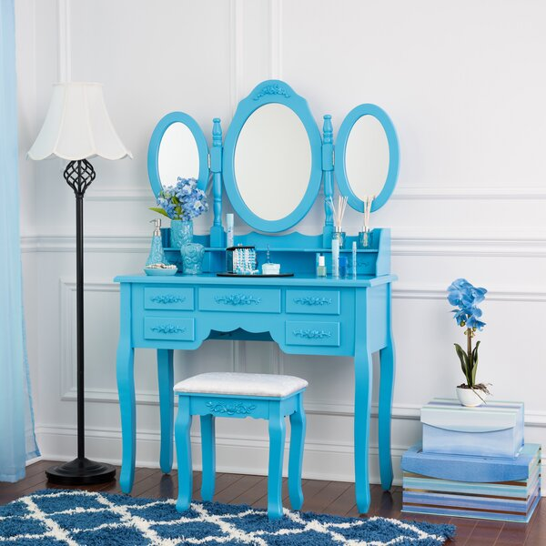 Bernie Vanity Set with Mirror by House of Hampton