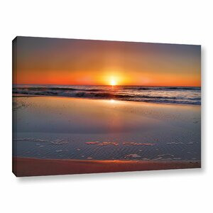 'Sunrise Over Assateague' Photographic Print on Wrapped Canvas by Ebern Designs