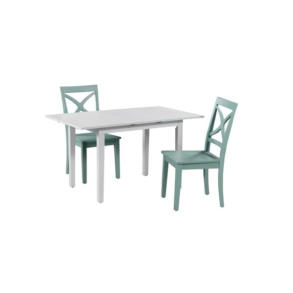 Deford 3 Piece Extendable Solid Wood Dining Set by Highland Dunes Highland Dunes