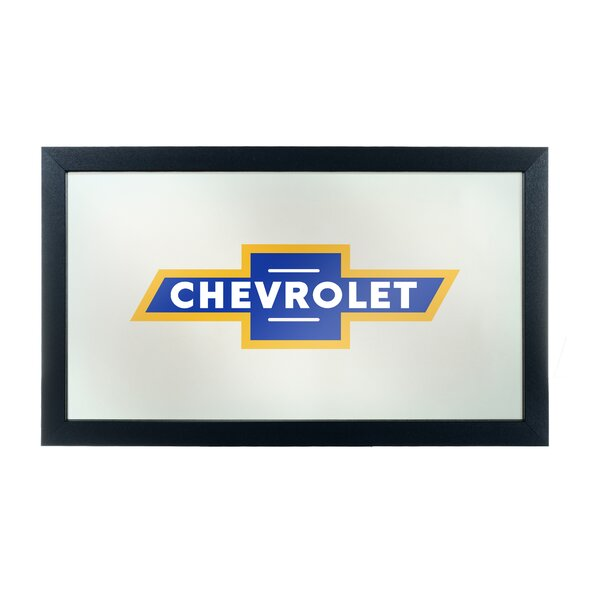 Chevrolet Framed Logo Accent Mirror by Trademark Global