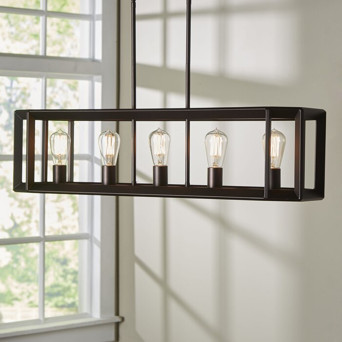Bouvet 5 light kitchen island pendant