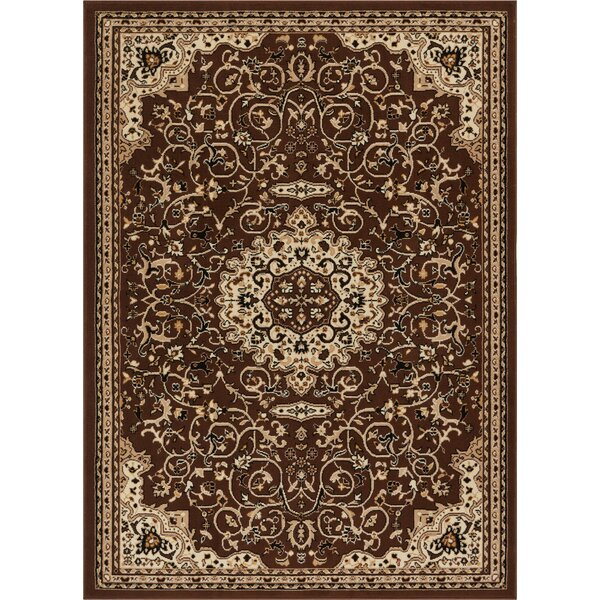 Persa Isfahan Medallion Brown Area Rug by Well Woven