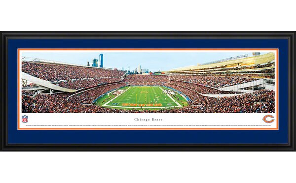 NFL End Zone Deluxe Framed Photographic Print by Blakeway Worldwide Panoramas, Inc