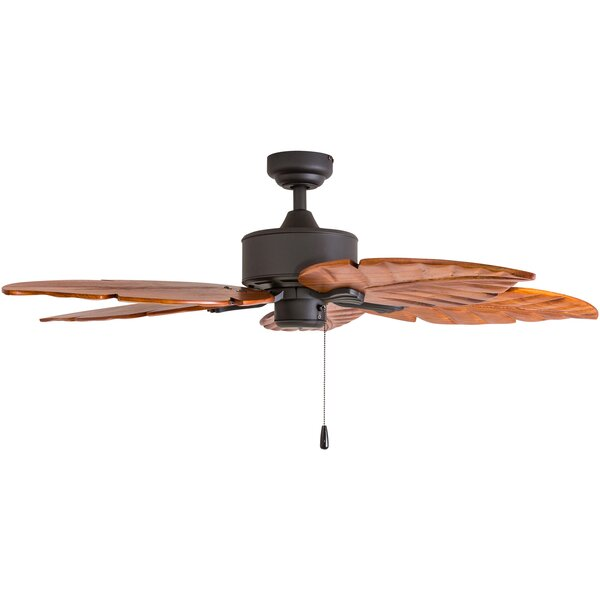 52 Palmdale Hand-Carved 5 Blade Ceiling Fan by Bay Isle Home