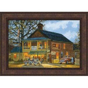 'American Made' by Dave Barnhouse Framed Painting Print by Hadley House Co