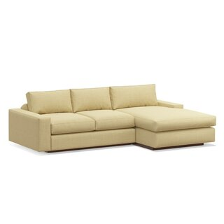 "Jackson 104"" Sofa with Chaise by TrueModern SKU:AB821862 Purchase"
