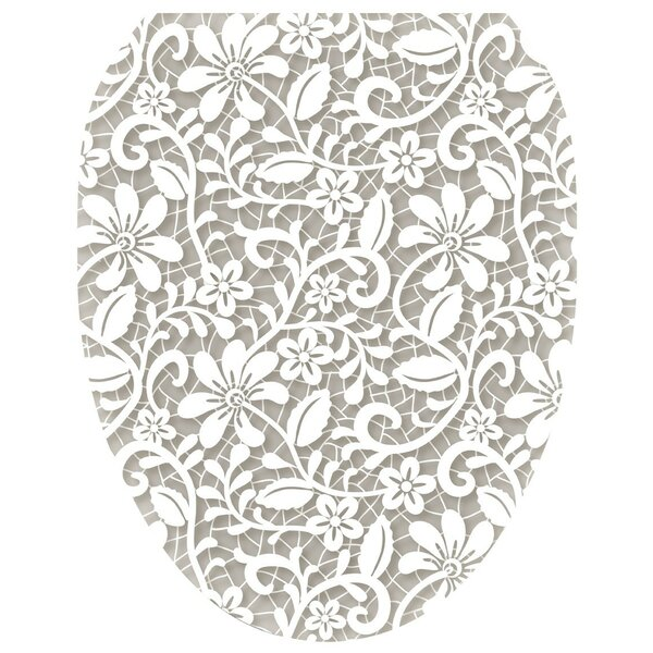 Lovely Lace Toilet Seat Decal by Toilet Tattoos