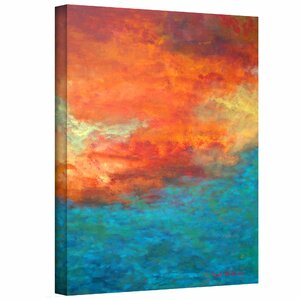 'Lake Reflections II' Painting Print on Wrapped Canvas by Zipcode Design
