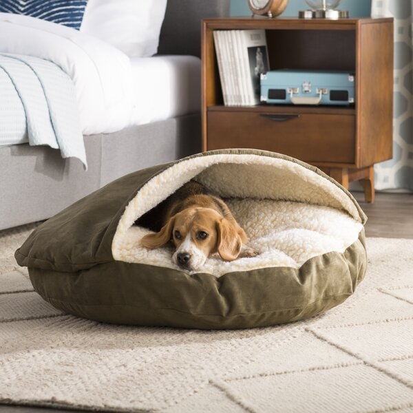 Fern Snuggery Hooded Dog Bed by Archie & Oscar