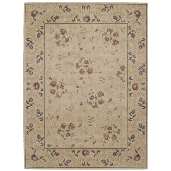 Sharon Taupe/Burgundy Area Rug by August Grove