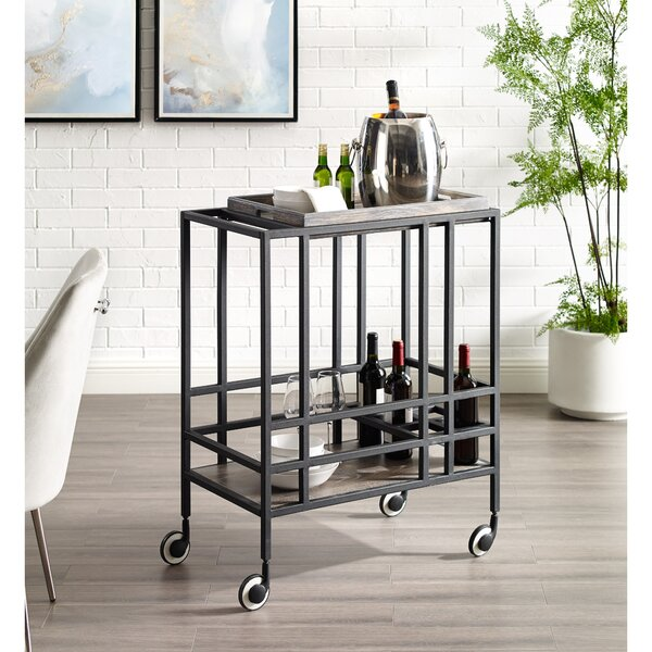 Hopkins Serving Bar Cart by 17 Stories