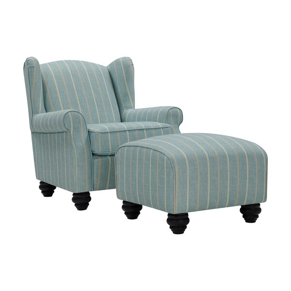 Roselle Wingback Chair and Ottoman by Alcott Hill