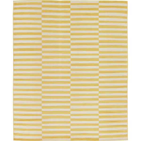 Braxton Yellow Area Rug by Mercury Row