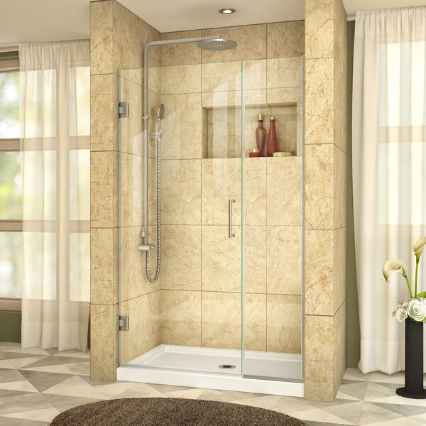 Unidoor Plus 42 x 72 Hinged Frameless Shower Door with Clearmax™ Technology by DreamLine