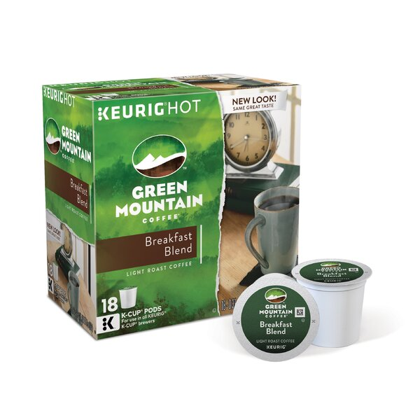 Green Mountain Coffee Roasters BreakFast Blend Coffee K-Cup (Pack of 108) by Keurig