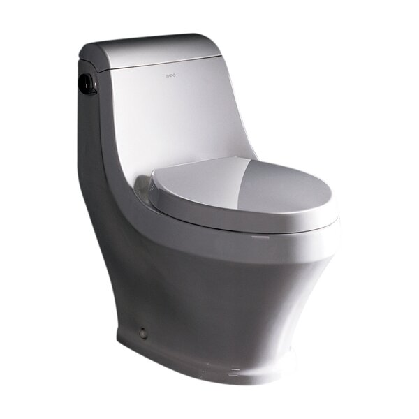 Adonis 1.6 GPF Elongated One-Piece Toilet (Seat Included) by Ariel Bath