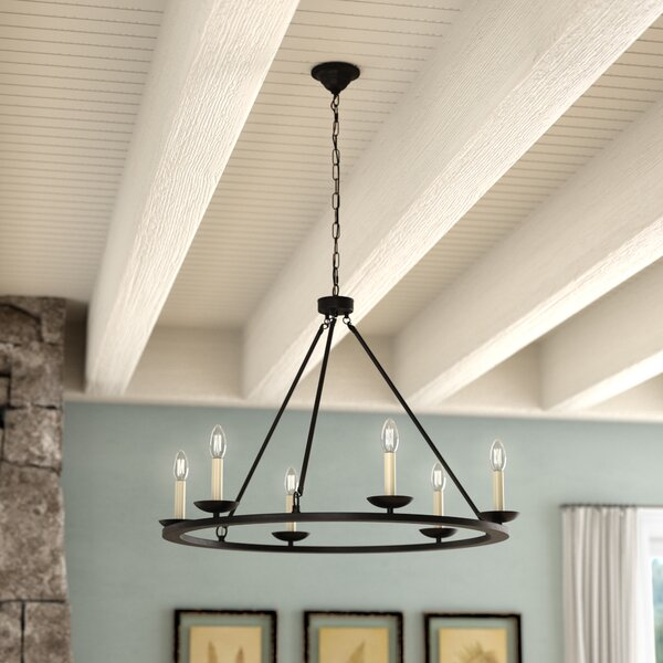 Stony Creek 6-Light Wagon Wheel Chandelier by Grac