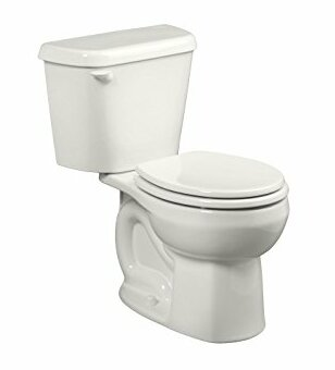 Colony 12 Rough 1.28 GPF Round Two-Piece Toilet by American Standard