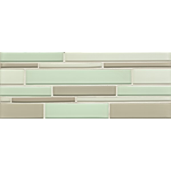 Harbor Glass Mosaic Random Interlocking Gloss Blend Tile in Breeze by Grayson Martin