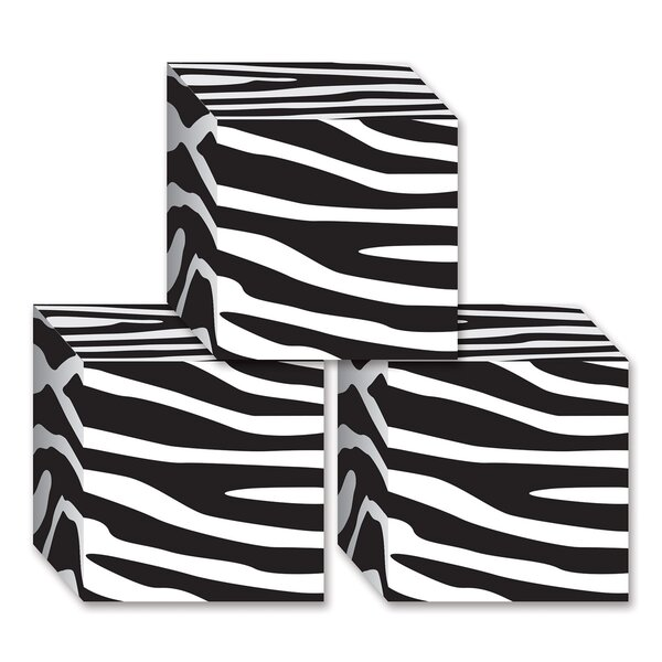 Zebra Print Favor Decorative Box (Set of 12) by The Beistle Company