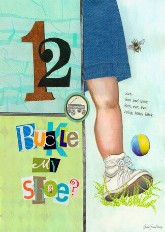 1, 2 Buckle My Shoe Canvas Art by Oopsy Daisy