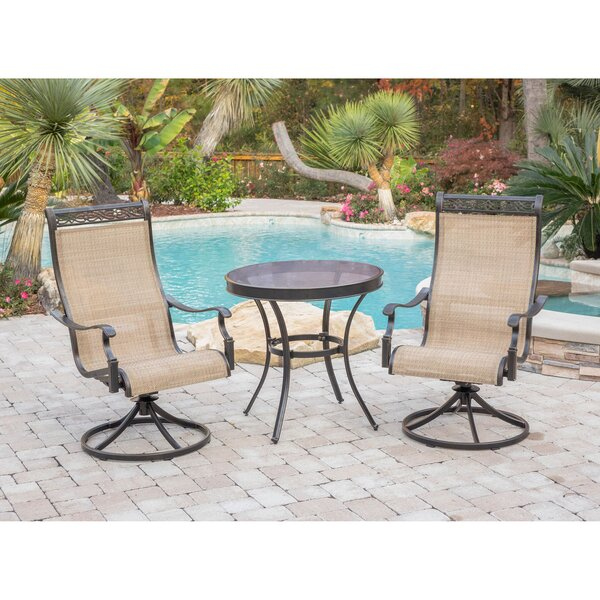 Grooms Patio Garden 3 Piece Bistro Set by Fleur De Lis Living