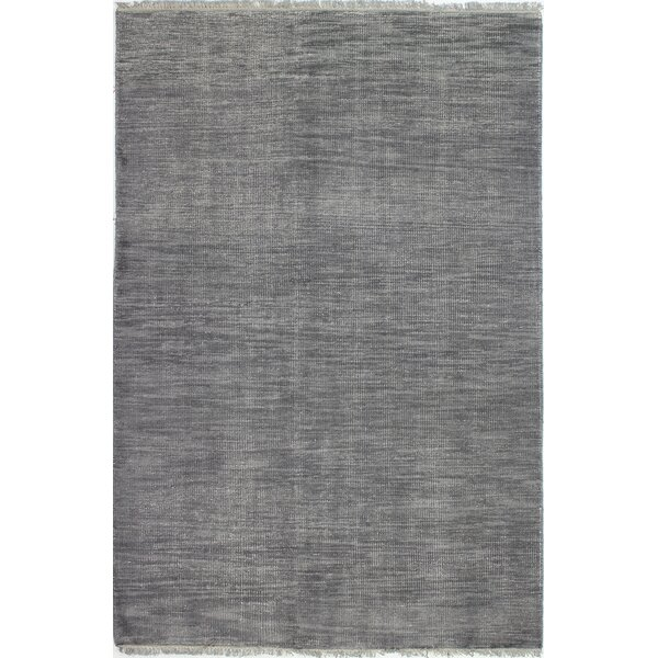 Kurtis Hand-Knotted Wool Grey Area Rug by Mistana