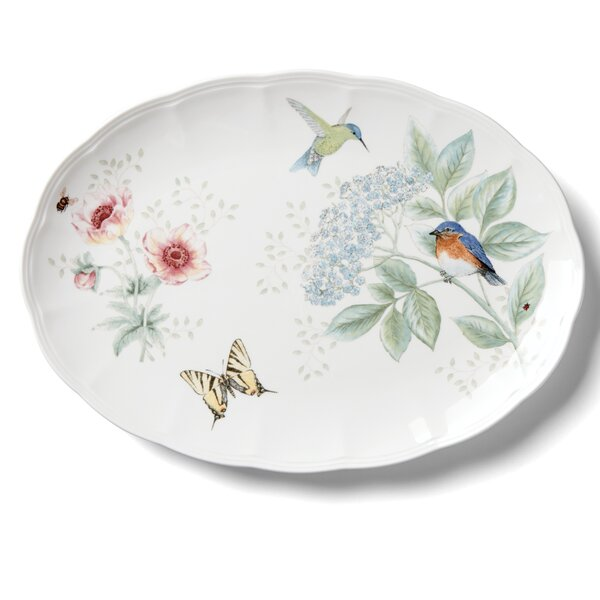 Butterfly Meadow Flutter Oval Platter by Lenox