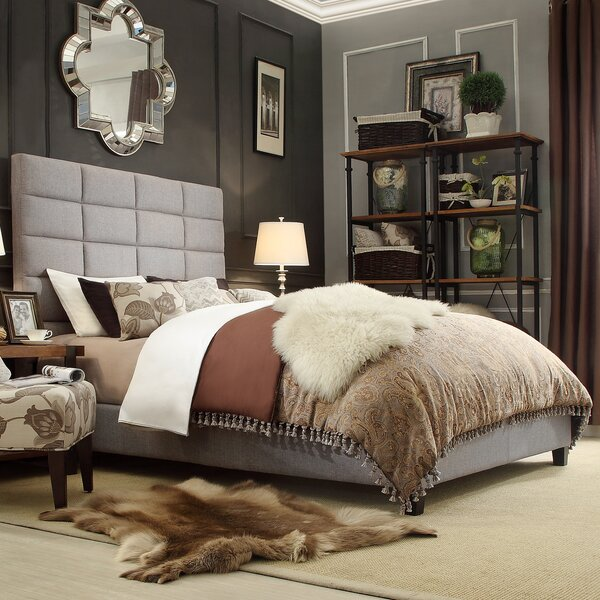 Melyna Upholstered Platform Bed by Lark Manor