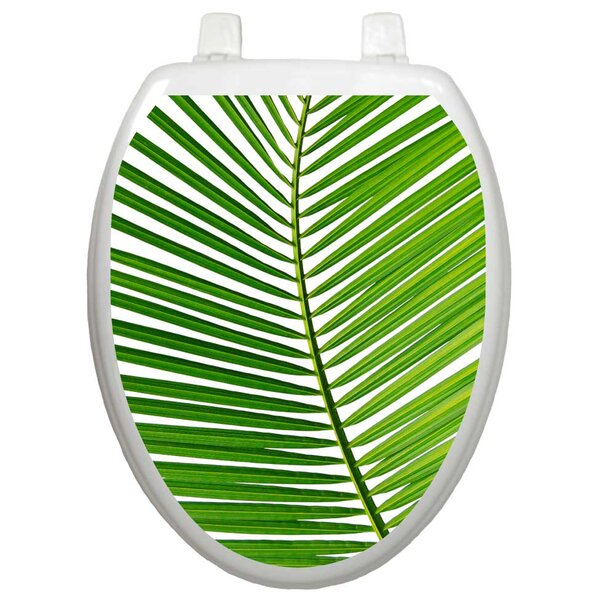 Themes Palm Frond Toilet Seat Decal by Toilet Tattoos