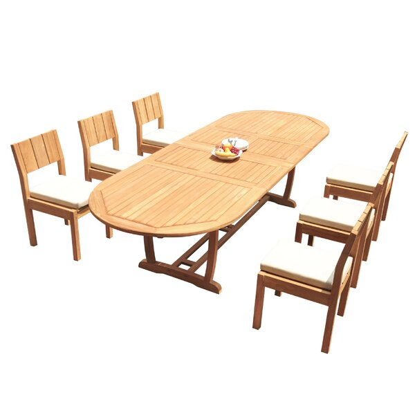 Fauntleroy 7 Piece Teak Dining Set by Rosecliff Heights