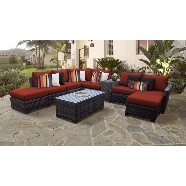 kathy ireland Homes and Gardens River Brook 10 Piece Sectional Seating Group by kathy ireland Homes & Gardens by TK Classics