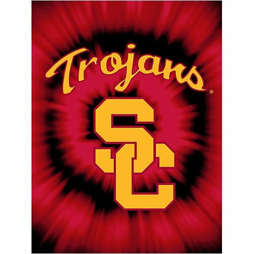 NCAA Team USC Trojans College Throw Blanket by Crover
