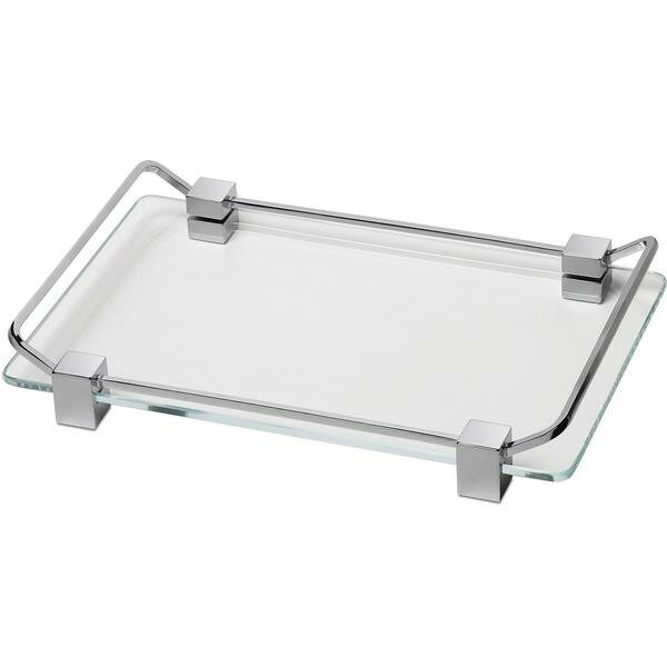 Manna Box Metal Countertop Glass Bathroom Accessory Tray by Latitude Run