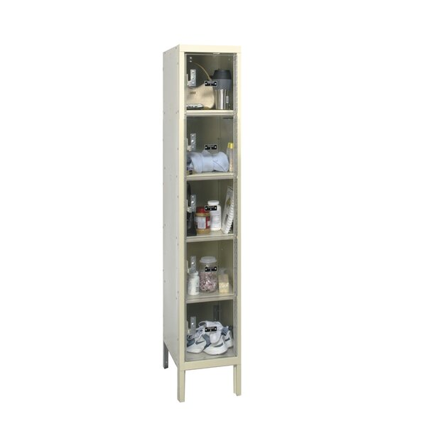 Safety-View 5 Tier 1 Wide Safety Locker by HallowellSafety-View 5 Tier 1 Wide Safety Locker by Hallowell