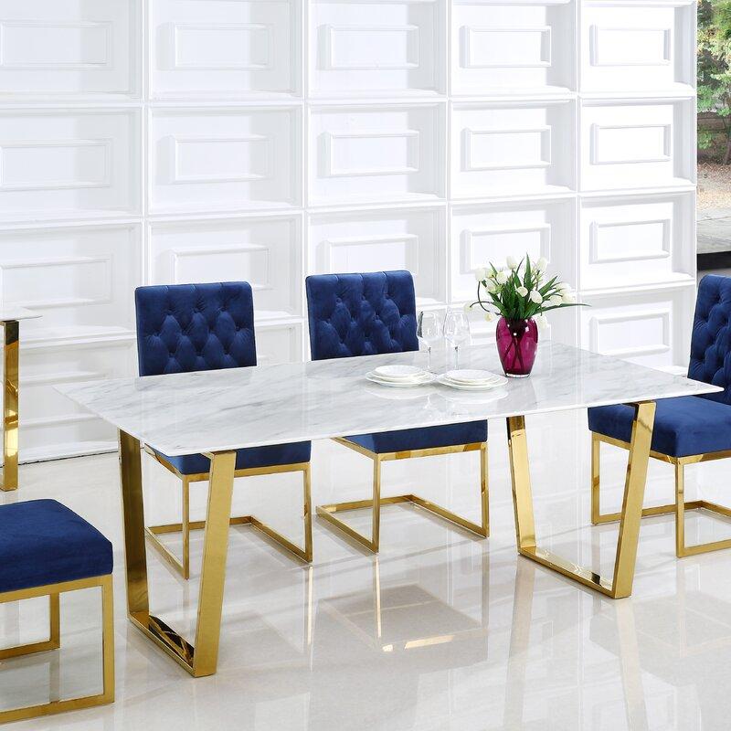 Willa arlo interiors germana dining table reviews wayfair - Willa arlo interiors keeley bar cart ...